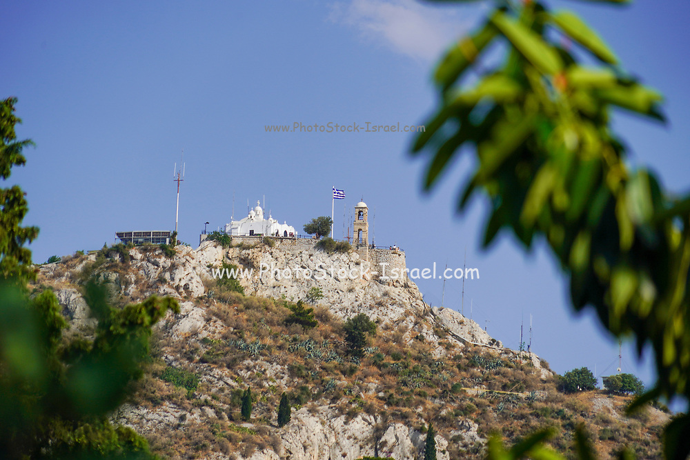 Agios Georgios (St. George) church at the top of the Lycabettus hill in Athens, Greece