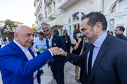 ADRIANO GALLIANI E MATTEO MARANI  <br /> INAUGURAZIONE CALCIOMERCATO 2021 GRAND HOTEL RIMINI