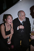 Poppy de Villeneuve and Sir Peter Blake. National Portrait Gallery  150th Anniversary Fundraising Gala. National Portrait Gallery. London. 28 February 2006. ONE TIME USE ONLY - DO NOT ARCHIVE  © Copyright Photograph by Dafydd Jones 66 Stockwell Park Rd. London SW9 0DA Tel 020 7733 0108 www.dafjones.com