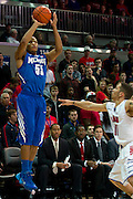 DALLAS, TX - FEBRUARY 01: Geron Johnson #55 of the Memphis Tigers shoots the ball against the SMU Mustangs on February 1, 2014 at Moody Coliseum in Dallas, Texas.  (Photo by Cooper Neill/Getty Images) *** Local Caption *** Geron Johnson