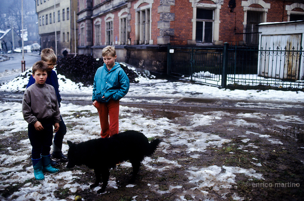 Plauen, a mining city of Thuringia (DDR) near the wall with West Germany. .