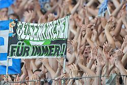 02.10.2011,  Imtech Arena, Hamburg, GER, 1. FBL, Hamburger SV (GER) vs Schalke 04 (GER), im Bild Feature Schalker Fans mit Plakat und Haenden// during match at Imtech Arena 2011/10/02,Hamburg.EXPA Pictures © 2011, PhotoCredit: EXPA/ nph/  Witke       ****** out of GER / CRO  / BEL ******