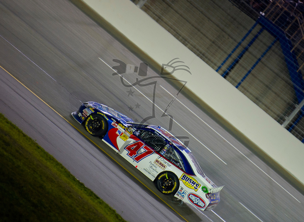 Sparta, KY - JUN 30, 2012: Bobby Labonte (47) during the Quaker State 400 at  Kentucky Speedway in Sparta, KY.