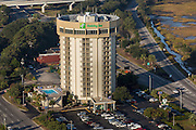 Aerial view of the Holiday Inn Harborview Charleston, South Carolina.