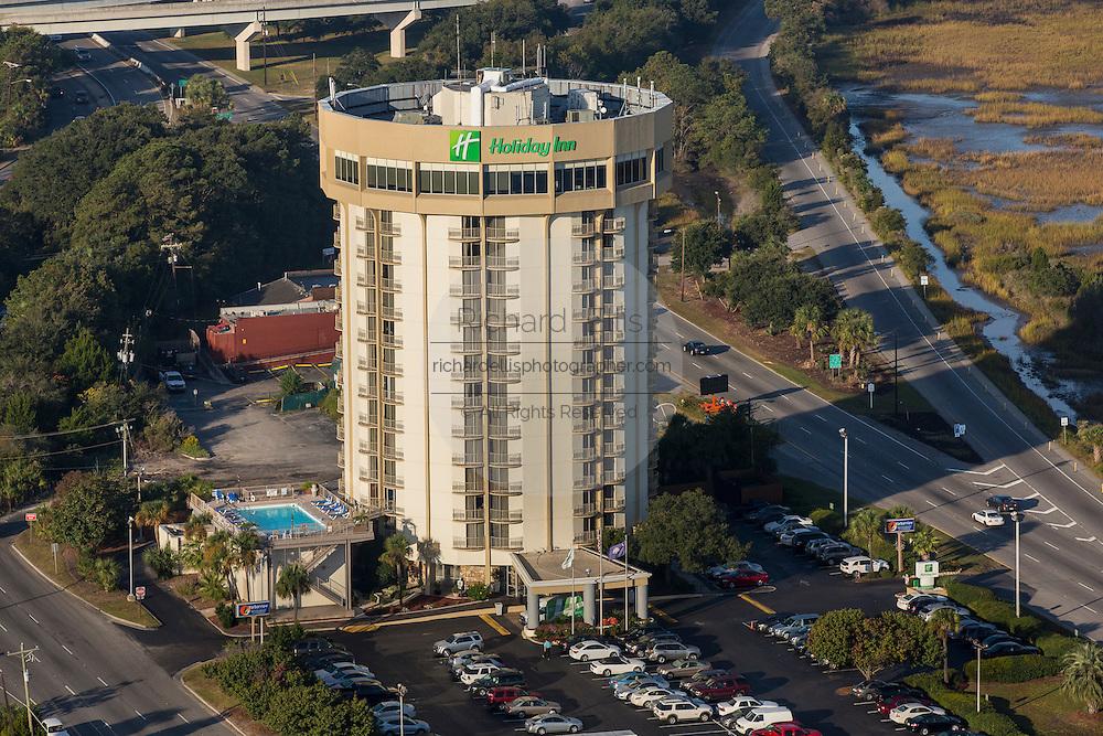 Aerial view of the Holiday Inn Harborview Charleston, South Carolina.