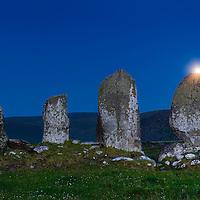 Full moon rising over Eightercua, Waterville County Kerry, Ireland / wv093