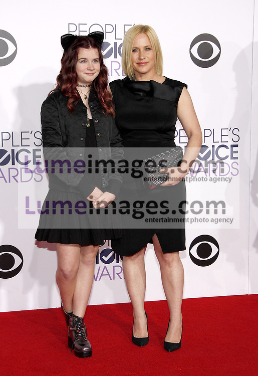 Patricia Arquette and Harlow Olivia Calliope Jane at the 41st Annual People's Choice Awards held at the Nokia L.A. Live Theatre in Los Angeles on January 7, 2015. Credit: Lumeimages.com