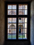 Widok na wewnętrzny dziedziniec zamku