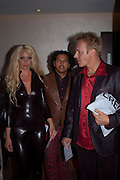 JENNY RADENKVIST; WALTER CARVERJAL; MIKAEL ERLANDSSON;, The London Bar and Club awards. Intercontinental Hotel. Park Lane, London. 6 June 2011. <br /> <br />  , -DO NOT ARCHIVE-© Copyright Photograph by Dafydd Jones. 248 Clapham Rd. London SW9 0PZ. Tel 0207 820 0771. www.dafjones.com.
