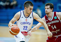 Emir Sulejmanovic of Cibona vs Matt Howard of SIG Strassbourg during basketball match between KK Cibona Zagreb (CRO) and SIG Strasbourg in Round #6 of FIBA Champions League 2016/17, on November 23, 2016 in Drazen Petrovic Basketball center, Zagreb, Croatia. Photo by Vid Ponikvar / Sportida