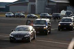 President Donald J. Trump and First Lady Melania Trump and Air Force One Arrival Glasgow, United Kingdom. Pic of they cars