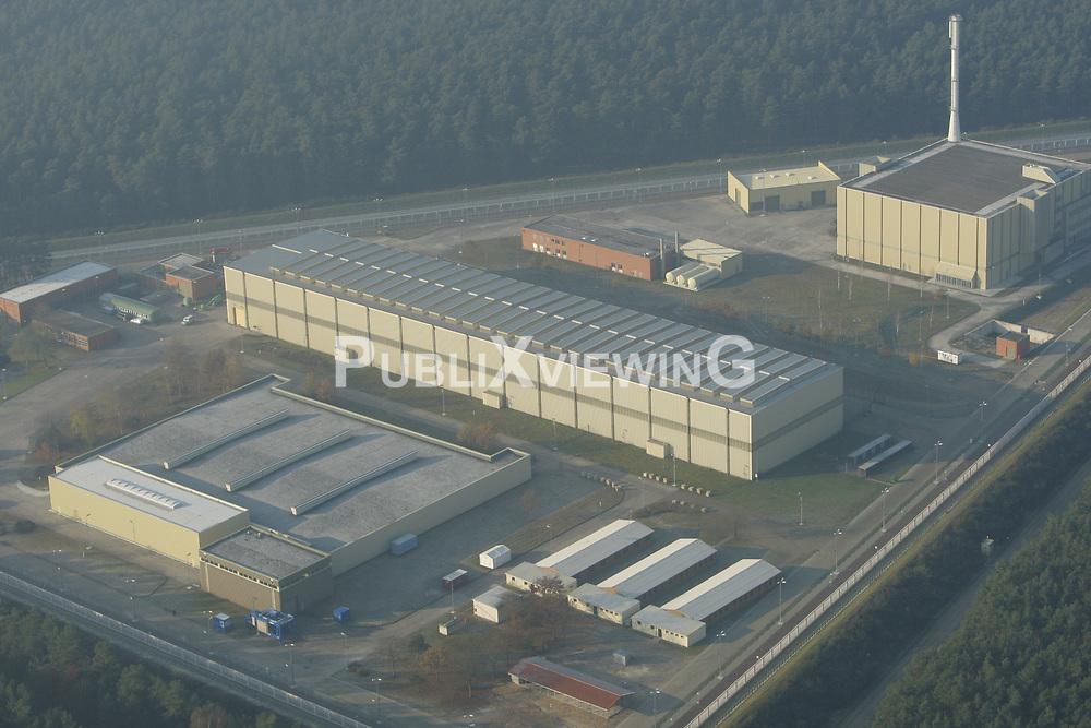 Luftaufnahme des Zwischenlagers für hochradioaktiven Atommüll in Gorleben.<br /> <br /> Ort: Gorleben<br /> Copyright: Andreas Conradt<br /> Quelle: PubliXviewinG