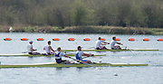 Caversham. Berkshire. UK<br /> Men's Pair Semi Final, Bow James RUDKIN and Lewis MCCUE, out fornt in the semi final A/B1.<br /> 2016 GBRowing U23 Trials at the GBRowing Training base near Reading, Berkshire.<br /> <br /> Tuesday  12/04/2016<br /> <br /> [Mandatory Credit; Peter SPURRIER/Intersport-images]