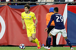 May 15, 2019 - Foxborough, MA, U.S. - FOXBOROUGH, MA - MAY 15: Chelsea FC defender Marcos Alonso (3) watches by New England Revolution midfielder Nicolas Firmino (29) during the Final Whistle on Hate match between the New England Revolution and Chelsea Football Club on May 15, 2019, at Gillette Stadium in Foxborough, Massachusetts. (Photo by Fred Kfoury III/Icon Sportswire) (Credit Image: © Fred Kfoury Iii/Icon SMI via ZUMA Press)