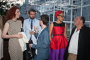 NICK LAIRD; ZADIE SMITH , The Serpentine Summer Party 2013 hosted by Julia Peyton-Jones and L'Wren Scott.  Pavion designed by Japanese architect Sou Fujimoto. Serpentine Gallery. 26 June 2013. ,