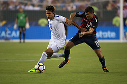 July 19, 2017 - Philadelphia, Pennsylvania, U.S - United States of America defender JUSTIN MORROW (16) fights for the ball against El Salvador defender DENIS PINEDA (8) during CONCACAF Gold Cup 2017 quarterfinal action at Lincoln Financial Field in Philadelphia, PA.  USA  defeats El Salvador 2 to 0. (Credit Image: © Mark Smith via ZUMA Wire)