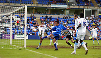 Photo: Marc Atkins.<br /> <br /> Peterborough United v Wycombe Wanderers. Coca Cola League 2. 06/05/2006. Peterborough's Sean St Ledger blazes wide from close range.