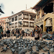 Kathmandu Nepal main square street scene