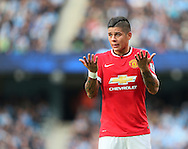 Manchester United's Marcos Rojo in action<br /> <br /> - Barclays Premier League - Manchester City vs Manchester Utd - Etihad Stadium - Manchester - England - 2nd November 2014  - Picture David Klein/Sportimage