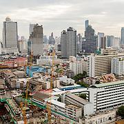 THA/Bangkok/20160729 - Vakantie Thailand 2016 Bangkok, Bouwplaats in Bangkok