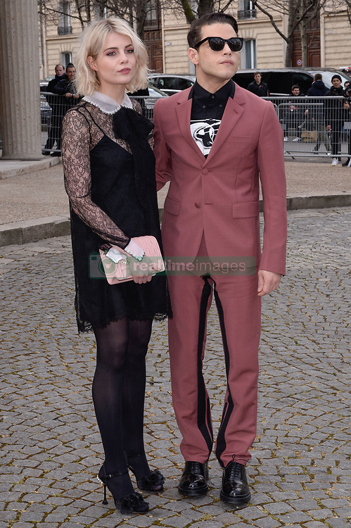 Lucy Boynton and Rami Malek arriving at the Miu Miu show as part of the Paris Fashion Week Womenswear Fall/Winter 2018/2019 in Paris, France on March 6, 2018. Photo by Julien Reynaud/APS-Medias/ABACAPRESS.COM