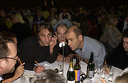 Will Self, Nick Mercer and Pip Torrens. Charity Quiz night for Rapt ( Rehabilitation of Addicted Prisoners Trust) Town Hall. Hammersmith. 14  November 2005 . ONE TIME USE ONLY - DO NOT ARCHIVE © Copyright Photograph by Dafydd Jones 66 Stockwell Park Rd. London SW9 0DA Tel 020 7733 0108 www.dafjones.com