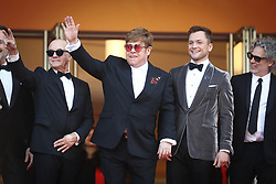 David Furnish, Bernie Taupin, Sir Elton John, Taron Egerton, Director Dexter Fletcher, Bryce Dallas Howard, Richard Madden and Adam Bohling attend the screening of Rocketman during the 72nd annual Cannes Film Festival on May 16, 2019 in Cannes, France Photo by Shootpix/ABACAPRESS.COM