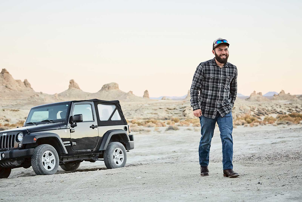 California lifestyle photographer Raymond Rudolph photographs some off road jeep fun in the Trona Pinnacles