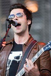 Kelly Jones of Stereophonics on the Main stage at T in the Park Friday 11 July 2008..T in the Park 2008 festival took place on the Friday 10th July, Saturday 11th July and Sunday 12th July, at Balado, near Kinross in Perth and Kinross, Scotland..Pic ©Michael Schofield. All Rights Reserved..