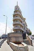 """Shimeon Levi house, commonly known as """"Ship building"""" by architect Arieh Cohen 1934 at 48 Levanda street,Tel Aviv White City. The White City refers to a collection of over 4,000 buildings built in the Bauhaus or International Style in Tel Aviv from the 1930s by German Jewish architects who emigrated to the British Mandate of Palestine after the rise of the Nazis. Tel Aviv has the largest number of buildings in the Bauhaus/International Style of any city in the world. Preservation, documentation, and exhibitions have brought attention to Tel Aviv's collection of 1930s architecture."""