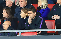 Tottenham Hotspur manager Mauricio Pochettino in stands during the game