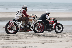 Psycle Sam Polys on his Indian racer at TROG (The Race Of Gentlemen). Wildwood, NJ. USA. Saturday June 9, 2018. Photography ©2018 Michael Lichter.