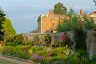 An early morning view of the Herbaceous Border at Waterperry Gardens, Waterperry, Wheatley, Oxfordshire, UK