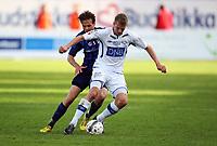 Fotball, Adeccoligaen Stabæk - Ranheim 09Juni 2013<br /> Thomas Rønning , Ranheim<br /> Timmi Johansen , Stabæk<br /> <br /> <br /> Foto: Ole Marius Fjalsett