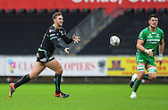Ospreys' Ashley Beck in action during todays match.<br /> <br /> Guinness Pro12 rugby match, Ospreys v Connacht rugby at the Liberty Stadium in Swansea, South Wales on Saturday 7th January 2017.<br /> pic by Craig Thomas, Andrew Orchard sports photography.