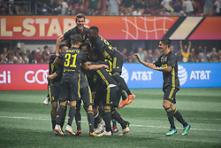 August 1, 2018 - Atlanta, Georgia, United States - Juventus players celebrate the win at the 2018 MLS All-Star Game at Mercedes-Benz Stadium in Atlanta, Georgia.  Juventus F.C. defeats  MLS All-Stars defeat  1 to 1  (Credit Image: © Mark Smith via ZUMA Wire)
