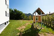 Playground for children deprived of a condominium, nobody inside
