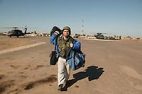........Al Franken during USO tour in SW Asia, Dec 2003....Here, in Tikrit, Iraq....USO photo by Owen Franken