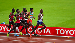 London, 2017-August-04. Mo Farah makes his break for the finish line during the Men's 10,000m final at the IAAF World Championships London 2017. ©Paul Davey.