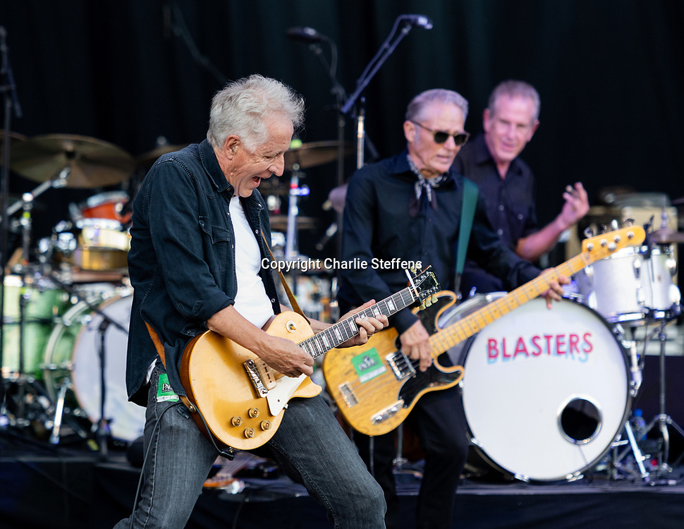 KEITH WYATT of The Blasters at Pacific Amphitheater in Costa Mesa, California