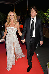 AMANDA HOLDEN and her husband CHRIS HUGHES at Battersea Dogs & Cats Home's Collars & Coats Gala Ball held at Battersea Evolution, Battersea Park, London on30th October 2014.