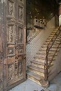 Close up of old steps and door, Havana, Cuba