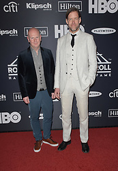 March 30, 2019 - Brooklyn, New York, USA - NEW YORK, NEW YORK - MARCH 29: Philip Selway and Ed O'Brien of Radiohead attend the 2019 Rock & Roll Hall Of Fame Induction Ceremony at Barclays Center on March 29, 2019 in New York City. Photo: imageSPACE (Credit Image: © Imagespace via ZUMA Wire)
