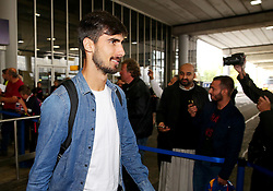 Andre Gomes of FC Barcelona arrives at Manchester Airport  - Mandatory by-line: Matt McNulty/JMP - 31/10/2016 - FOOTBALL - Manchester Airport - Manchester, England - Manchester City v Barcelona - UEFA Champions League - Group C