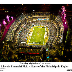 Aerial view of the Link, Monday Night Game.<br /> 11x14 Digital Print. Philadelphia Eagles vs Cleveland Eagles vs Cleveland Browns.<br /> FREE SHIPPING Aerial  view of Philadelphia Eagles vs Cleveland Browns at Lincoln Financial Field on December 15th 2008 Monday Night Game during Pregame Ceremony.