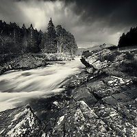 River Orchy in late winter spate