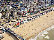 Nederland, Zuid-Holland, Den Haag, 14-09-2019; Scheveningen, strand, boulevard, Kurhaus.<br /> Scheveningen, beach and boulevard.<br /> <br /> luchtfoto (toeslag op standard tarieven);<br /> aerial photo (additional fee required);<br /> copyright foto/photo Siebe Swart