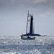 course de la classe mini sur des voiliers de 6m50 en solitaire au depart de Pornichet