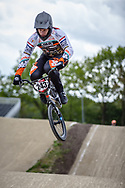 #243 (KIMMANN Justin) NED during practice at Round 3 of the 2019 UCI BMX Supercross World Cup in Papendal, The Netherlands
