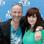 NLD/Haarlem/20120627 - Filmpremiere Ice Age 4, Eddy Zoey een partner Marieke Hulsegge